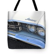 1969 Mercury Montego Mx Grille With Headlights And Logos Tote Bag