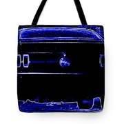 1969 Mustang In Neon 2 Tote Bag