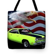 1969 Plymouth Road Runner Tribute Tote Bag by Peter Piatt