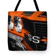 1970 Chevelle Ss396 Ss 396 Orange Tote Bag
