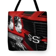 1970 Chevelle Ss396 Ss 396 Red Tote Bag