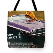 1970 Dodge Challenger Rt Convertible Tote Bag