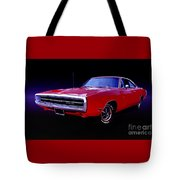 1970 Dodge Charger 500 Tote Bag