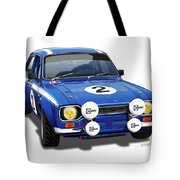 1970 Ford Escort Mexico Illustration Tote Bag