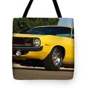 1970 Hemi 'cuda - Lemon Twist Yellow Tote Bag
