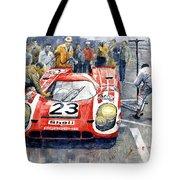 1970 Le Mans 24 Porsche917k Attwood Herrmann Winner  Tote Bag