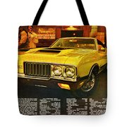 1970 Oldsmobile Cutlass 442 W-30 Tote Bag