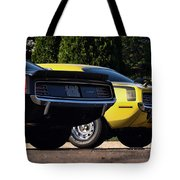 1970 Plymouth 'cuda 440 And Hemi Tote Bag