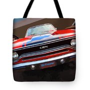 1970 Plymouth Gtx Vectorized Tote Bag