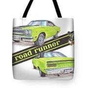 1970 Plymouth Road Runner Tote Bag