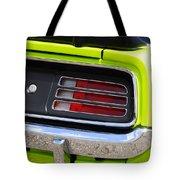 1970 Sublime Green Hemi 'cuda  Tote Bag