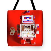 1970s Wind Up Dancing Robot Tote Bag