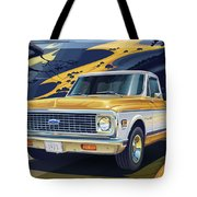 1971 Chevrolet C10 Cheyenne Fleetside 2wd Pickup Tote Bag