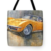 1971 Chevrolet Corvette Lt1 Coupe Tote Bag