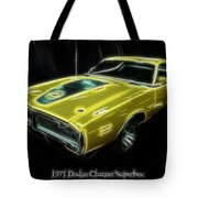 1971 Dodge Charger Superbee - Electric Tote Bag