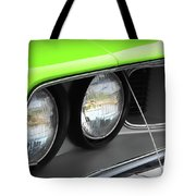 1971 Plymouth Barracuda Cuda Sublime Green Tote Bag