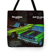 1971 Plymouth Duster 340 And Twister Tote Bag