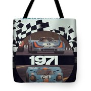 1971 Porsche World Champion Poster Tote Bag