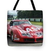 1972 Chevy Corvette At Road America Tote Bag