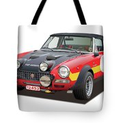 1972 Fiat Abarth 124 Rally Illustration Tote Bag