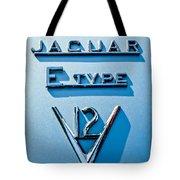 1972 Jaguar E-type V12 Roadster Emblem Tote Bag