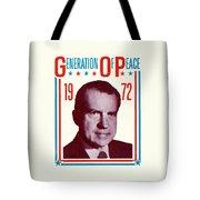 1972 Nixon Presidential Campaign Tote Bag