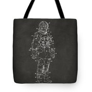 1973 Astronaut Space Suit Patent Artwork - Gray Tote Bag by Nikki Marie Smith