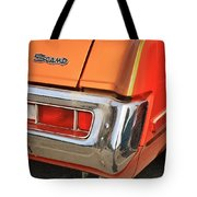 1973 Plymouth Scamp Tail Lights And Logo Tote Bag