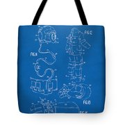 1973 Space Suit Elements Patent Artwork - Blueprint Tote Bag by Nikki Marie Smith