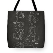 1973 Space Suit Elements Patent Artwork - Gray Tote Bag by Nikki Marie Smith