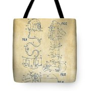 1973 Space Suit Elements Patent Artwork - Vintage Tote Bag by Nikki Marie Smith