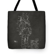 1973 Space Suit Patent Inventors Artwork - Gray Tote Bag