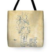1973 Space Suit Patent Inventors Artwork - Vintage Tote Bag