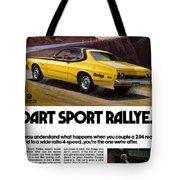 1974 Dodge Dart Sport Rallye Tote Bag