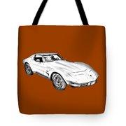 1975 Corvette Stingray Sports Car Illustration Tote Bag