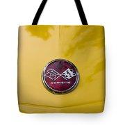 1976 Canary Yellow Vette Hood Emblem Tote Bag