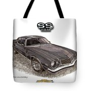 1976 Chevrolet Camato S S 396 Tote Bag