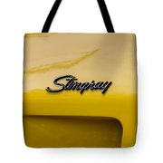 1976 Corvette Stingray Side Emblem Tote Bag
