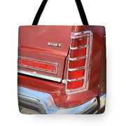 1977 Lincoln Continental Mark V With Tail Lights And Logo Tote Bag