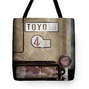 1978 Toyota Land Cruiser Fj40 Taillight Emblem -1191ac Tote Bag