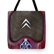 1979 Citroen 2cv Speedster Hood Ornament Tote Bag by Jill Reger