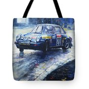 1980 Criterium Lucien Bianchi Porsche Carrera Keller Hoss #20 Tote Bag