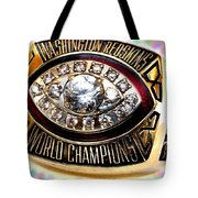 1982 Redskins Super Bowl Ring Tote Bag by Paul Van Scott