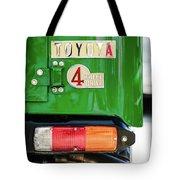 1982 Toyota Fj43 Land Cruiser Tail Light Emblem -0483g Tote Bag