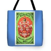 1984 Mongolia God Ulan Yadam Mask Postage Stamp Tote Bag