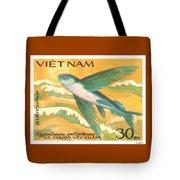 1984 Vietnam Flying Fish Postage Stamp Tote Bag