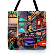 1984 Vision Of Times Square 2015 Tote Bag