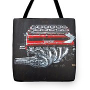1990 Ferrari F1 Engine V12 Tote Bag