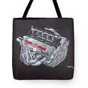 1996 Ferrari F1 V10 Engine Tote Bag