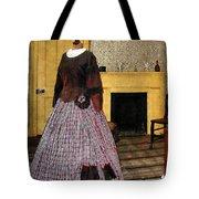 19th Century Plaid Dress Tote Bag